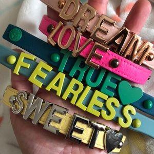 BCBG word bracelets